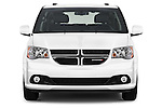 Car photography straight front view of a2015 Dodge Grand Caravan SXT PLUS 5 Door Minivan Front View