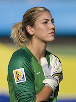 USA goalkeeper (18) Hope Solo. The USA defeated Sweden 2-0 during their Group B first round game at the 2007 FIFA Women's World Cup at Chengdu Sports Center Stadium in Chengdu, China on September 14, 2007.