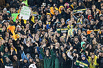 Baylor Bears fans brave the bad weather to watch the game between the Oklahoma Sooners and the Baylor Bears at the McLane Stadium in Waco, Texas. OU defeats Baylor 44 to 34.