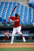 Bryan Loriga (20) of ESB Academy in Hialeah, FL during the Perfect Game National Showcase at Hoover Metropolitan Stadium on June 17, 2020 in Hoover, Alabama. (Mike Janes/Four Seam Images)