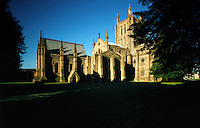 "© David Paterson.Hereford Cathedral - a fine example of medieval church architecture and home to the famous ""Mappa Mundi"", one of the earliest surviving attempts to map the known world. Hereford, England...Keywords: cathedral, church, Christianity, holy, sacred, ancient, medieval, Hereford, England, Mappa, Mundi.."