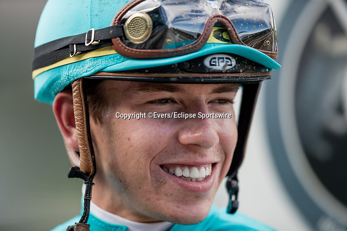 September 30 2018 : Tyler Gaffalione after the John Henry Stakes at Santa Anita Park on September 30, 2018 in Arcadia, California. Evers/ESW/CSM