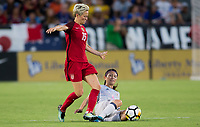 Carson, CA - Thursday August 03, 2017: Megan Rapinoe, Aya Sameshima during a 2017 Tournament of Nations match between the women's national teams of the United States (USA) and Japan (JAP) at StubHub Center.