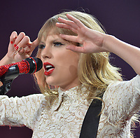 ATLANTA, GA - APRIL 18: Seven-Time Grammy winner Taylor Swift  (born December 13, 1989) performs The RED Tour at the Philips Arena on April 18, 2013 in Atlanta, Georgia.<br /> <br /> People:  Taylor Swift