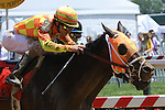 2011 05 21: Super Expresso with Ramon Dominguez win the Grade 3 Dupont Distaff for 3 year olds & up,for fillies and mares, at 1 1/16 mile, Pimlico Racetrack. Trainer Todd Pletcher. Owner Bobby Flay