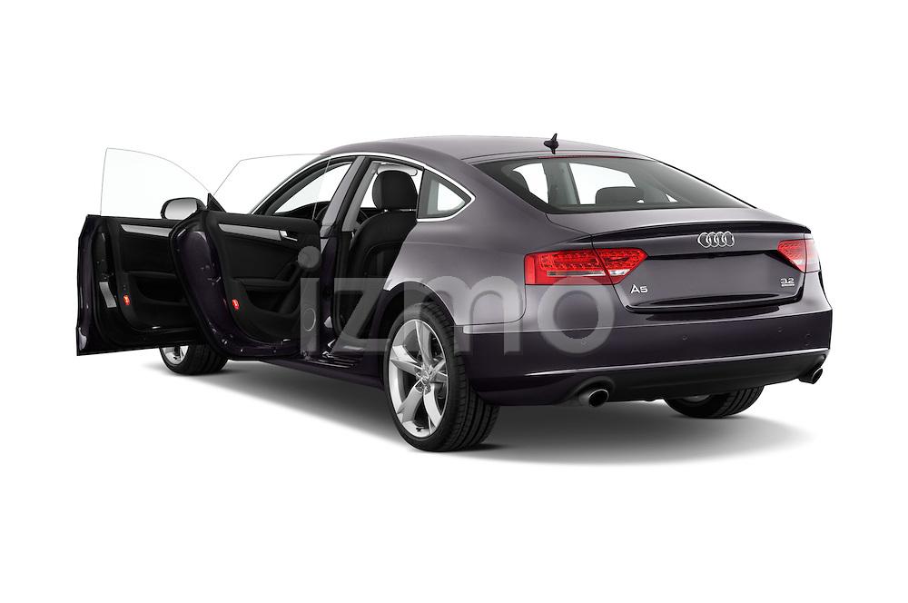 Rear three quarter door view of a 2009 - 2011 Audi A5 Ambition Luxe Sportback 5-Door Hatchback.
