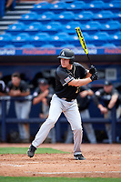 Army West Point Jax Luzinski (27) at bat during a game against the Michigan Wolverines on February 18, 2018 at First Data Field in St. Lucie, Florida.  Michigan defeated Army 7-3.  (Mike Janes/Four Seam Images)