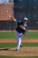 San Diego Padres pitcher Cody Kendall (95) during an instructional league game against the Texas Rangers on October 9, 2015 at the Surprise Stadium Training Complex in Surprise, Arizona.  (Mike Janes/Four Seam Images)