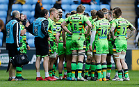Photo: Richard Lane/Richard Lane Photography. Wasps v Northampton Saints. Aviva Premiership. 29/04/2018. Saints huddle.