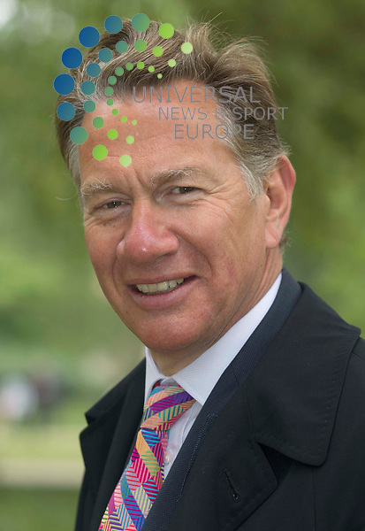 Michael Portillo enjoying the  Royal wedding on the mall before Prince William and Princess Kate come down the mall in London. .Picture: Maurice McDonald/Universal News And Sport (Europe).29 April 2011..