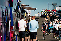 Bauke Mollema  (NED/Trek-Segafredo) rolling back to the teambus after finishing up Mont Aigoual<br /> <br /> Stage 6 from Le Teil to Mont Aigoual (191km)<br /> <br /> 107th Tour de France 2020 (2.UWT)<br /> (the 'postponed edition' held in september)<br /> <br /> ©kramon
