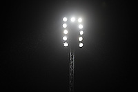 The Floodlights are used for there first Wycombe evening match since the close season upgrade during the Capital One Cup match between Wycombe Wanderers and Fulham at Adams Park, High Wycombe, England on 11 August 2015. Photo by Andy Rowland.