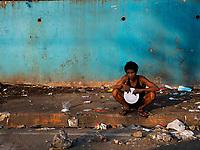 Street Photography, Manila, Philippines Manila slum area,