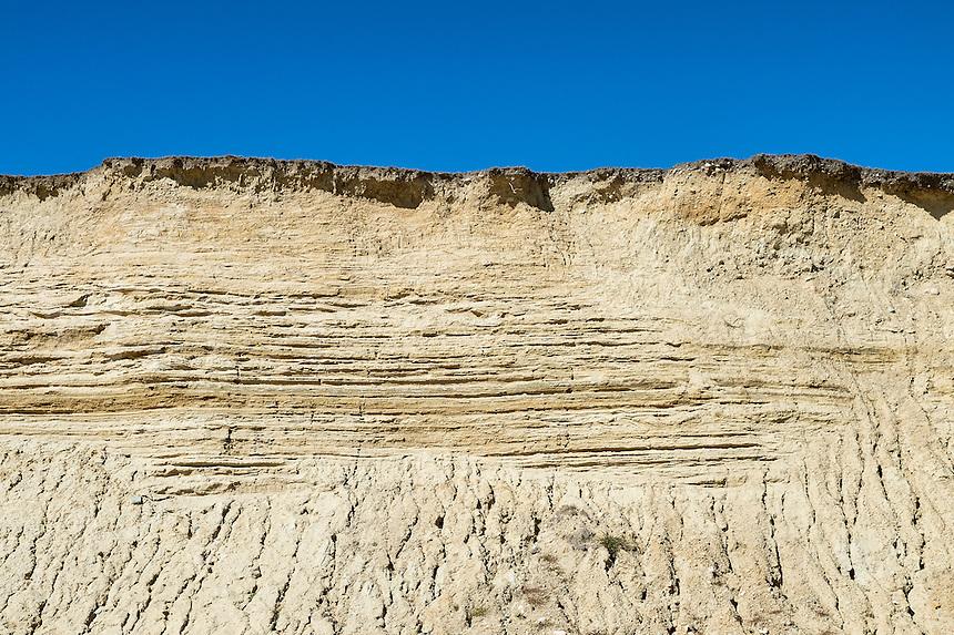 Severe beachfront cliff erosion along Squibnocket Beach, Chillmark, Martha's Vineyard, Massachusetts, USA