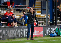 3rd October 2020; Kenilworth Road, Luton, Bedfordshire, England; English Football League Championship Football, Luton Town versus Wycombe Wanderers; Wycombe Wanderers Manager Gareth Ainsworth shouting at Assistant Referee Henry Lennard from the touchline