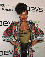 """LOS ANGELES - MARCH 2: Angela Lewis attends the premiere of the new FX limited series """"Devs"""" at ArcLight Cinemas on March 2, 2020 in Los Angeles, California. (Photo by Frank Micelotta/FX Networks/PictureGroup)"""