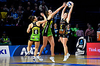 Samantha Winders of the Magic and Kelly Jury of the Pulse during the ANZ Premiership Netball - Pulse v Magic at TSB Bank Arena, Wellington, New Zealand on Sunday 30 May 2021.<br /> Photo by Masanori Udagawa. <br /> www.photowellington.photoshelter.com