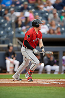 Erie SeaWolves Josh Lester (17) at bat during an Eastern League game against the Akron RubberDucks on August 30, 2019 at Canal Park in Akron, Ohio.  Erie defeated Akron 3-2.  (Mike Janes/Four Seam Images)