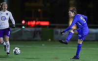 forward Gwen Duijsters (13) of KRC Genk pictured during a female soccer game between  Racing Genk Ladies and RSC Anderlecht on the 16 th matchday of the 2020 - 2021 season of Belgian Scooore Womens Super League , friday 12 th of March 2021  in Genk , Belgium . PHOTO SPORTPIX.BE   SPP   SEVIL OKTEM