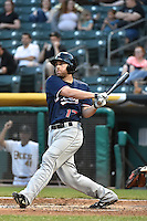 Nick Evans (17) of the Reno Aces at bat against the Salt Lake Bees at Smith's Ballpark on May 4, 2014 in Salt Lake City, Utah.  (Stephen Smith/Four Seam Images)