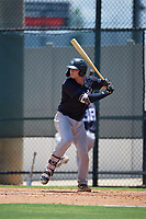 GCL Yankees East Alex Guerrero (8) bats during a Gulf Coast League game against the GCL Phillies West on August 3, 2019 at the Carpenter Complex in Clearwater, Florida.  The GCL Yankees East defeated the GCL Phillies West 4-0, the second game of a doubleheader.  (Mike Janes/Four Seam Images)