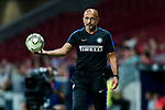 Coach Luciano Spalletti of FC Internazionale catches the ball during their International Champions Cup Europe 2018 match between Atletico de Madrid and FC Internazionale at Wanda Metropolitano on 11 August 2018, in Madrid, Spain. Photo by Diego Souto / Power Sport Images
