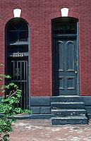 """St. Louis: Soulard Area. """"Mousetrap"""" Street View. (4-family flat, pre-Civil War). Photo '77."""