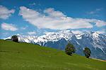 Austria, Tyrol, Inntal mountain range also called Nordkette of Karwendel mountains | Oesterreich, Tirol, Inntalkette auch Nordkette genannt, suedlichste Gebirgskette im Karwendel