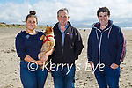 Taking Polly for a walk in Banna on Sunday, l to r: Amy and Gerry O'Sullivan and Jamie O'Connor.