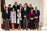 King Felipe VI of Spain, Queen Letizia and Uruguayan poet Ida Vitale during the Cervantes Literature Prize ceremony at the University of Alcala in Madrid on April 23, 2019. (ALTERPHOTOS/Alconada).