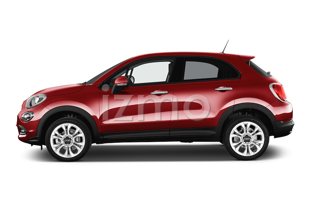 Car Driver side profile view of a 2016 Fiat 500X-City-Look Pop-Star 5 Door Suv Side View