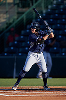 AZL Padres 1 Tyler Malone (4) at bat during an Arizona League game against the AZL Angels on July 16, 2019 at Tempe Diablo Stadium in Tempe, Arizona. The AZL Padres 1 defeated the AZL Angels 3-1. (Zachary Lucy/Four Seam Images)