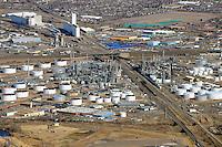 Commerce City, Colorado. Oil refinery and storage. Denver. Feb 2014