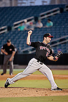 Albuquerque Isotopes pitcher David Hale (23) throws against the New Orleans Zephyrs in a game at Zephyr Field on May 28, 2015 in Metairie, Louisiana. (Derick E. Hingle/Four Seam Images)