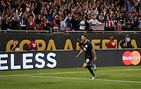 Chicago, IL - June 7, 2016: The U.S. Men's national team take a 4-0 lead over Costa Rica from a goal by Graham Zusi at the 2016 Copa America Centenario at Soldier Field.