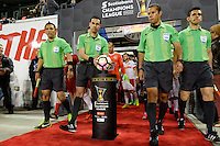 Harrison, NJ - Wednesday Feb. 22, 2017: Ball, Marvin Torrentera, Miguel Angel Hernandez, Cesar Ramos, Jose Penaloza prior to a Scotiabank CONCACAF Champions League quarterfinal match between the New York Red Bulls and the Vancouver Whitecaps FC at Red Bull Arena.