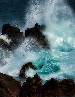 Storm waves at Laupahoehoe Point. Hawaii, The Big Island