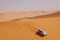 5th January 2021; Dakar Rally stage 3; #310 Al Qassimi Sheikh Khalid (are), Panseri Xavier (fra), Peugeot, PH Sport, Abu Dhabi Racing, Auto, action during the 3rd stage of the Dakar 2021 between Wadi Al Dawasir and Wadi Al Dawasir, in Saudi Arabia on January 5, 2021