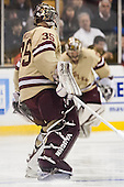 Parker Milner (BC - 35) - The Boston College Eagles defeated the Northeastern University Huskies 6-3 for their fourth consecutive Beanpot championship on Monday, February 11, 2013, at TD Garden in Boston, Massachusetts.