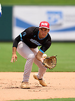 West Broward Bobcats Juan Pablo Correa (7) during practice before the 42nd Annual FACA All-Star Baseball Classic on June 5, 2021 at Joker Marchant Stadium in Lakeland, Florida.  (Mike Janes/Four Seam Images)