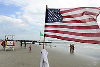 USA, New Jersey, Ocean City, beach and bay watch