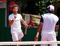 30-05-12, France, Paris, Tennis, Roland Garros,  Jean-Julian Rojer en zijn dubbel partner Aisam-ul-haq Qureshi