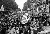 Paris, France.April 27, 2002..Anti-Le Pen demonstrations. An estimated 250,000 people take to the streets of Paris between Republic - Bastille - Nation to protest against the extreme right wing presidential candidate Jean-Marie Le Pen. In France an estimated 1.1 million demostrate against le Pen.