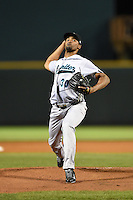 Jupiter Hammerheads pitcher Juan Sosa (30) delivers a pitch during a game against the Bradenton Marauders on April 17, 2014 at McKechnie Field in Bradenton, Florida.  Bradenton defeated Jupiter 2-1.  (Mike Janes/Four Seam Images)