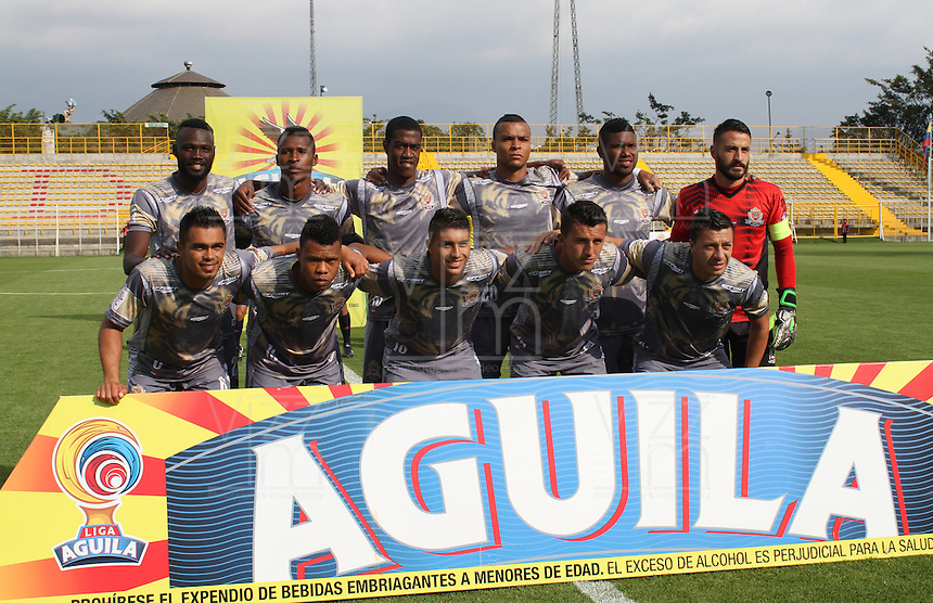 BOGOTA -COLOMBIA, 21-02-2017. Team of Tigres FC.Action game between  Tigres FC  and Deportivo Cali during match for the date 5 of the Aguila League I 2017 played at Metropolitano de Techo stadium . Photo:VizzorImage / Felipe Caicedo  / Staff
