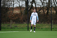 Pictured: Dimitris Legakis. Wednesday 13 December 2018<br /> Re: Coaching staff v Members of the press game at the Fairwood Training Ground, Wales, UK.