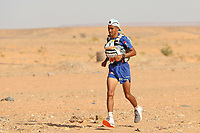4th October 2021; Tisserdimine to Kourci Dial Zaid;  Marathon des Sables, stage 2 of  a six-day, 251 km ultramarathon, which is approximately the distance of six regular marathons. The longest single stage is 91 km long. This multiday race is held every year in southern Morocco, in the Sahara Desert. Rachid El Morabity (MOR) out in front