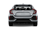 Straight rear view of 2017 Honda Civic EX 5 Door Hatchback Rear View  stock images