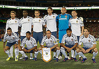 07 March 2012: The LA Galaxy starting eleven at the start of a CONCACAF Champions League game between the LA Galaxy and Toronto FC at the Rogers Centre in Toronto..The game ended in a 2-2 draw.