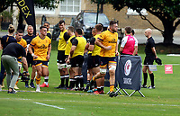 Thursday 9th September 20218 <br /> <br /> Alan O;Connor leads Ulster out for pre-season friendly between Saracens and Ulster Rugby at the Honourable Artillery Company Grounds, Armoury House, London, England. Photo by John Dickson/Dicksondigital